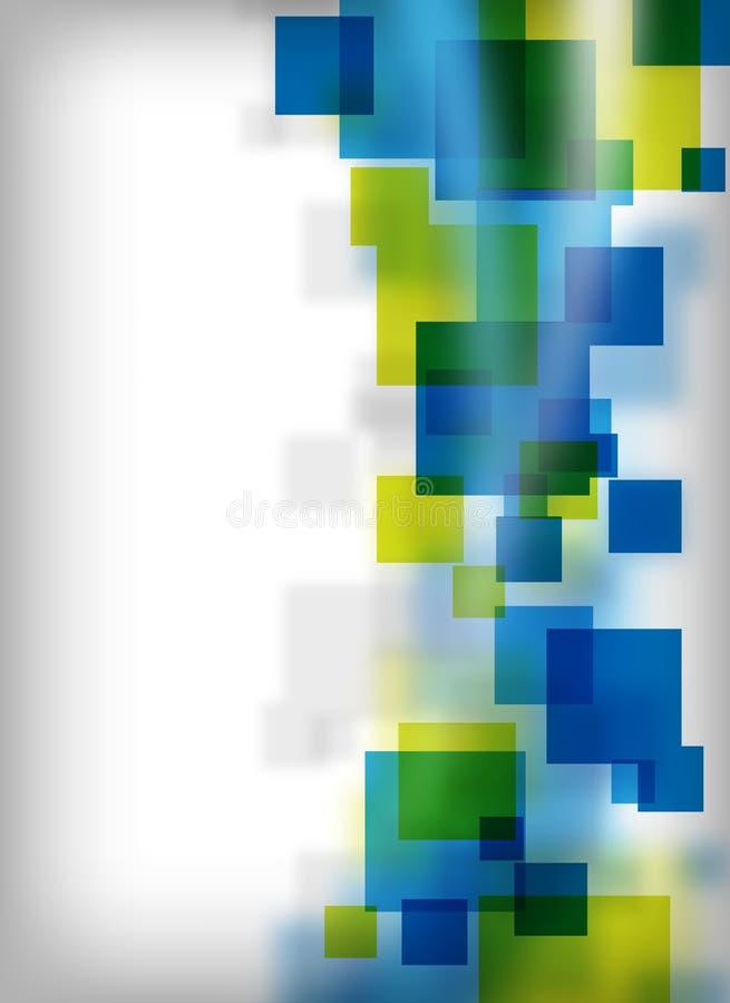 Abstrakte quadratische Auslegung lizenzfreie abbildung