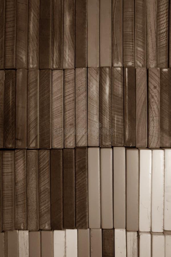 Abstrakte quadratische Form des hölzernen Blockes lizenzfreies stockfoto