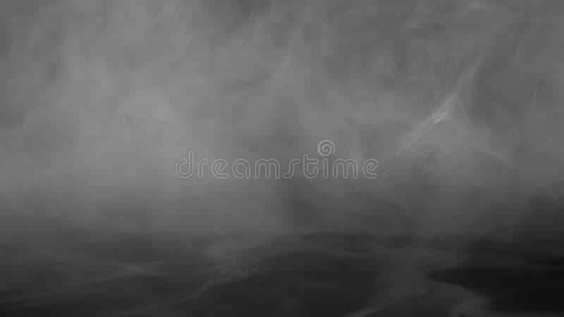 Abstrakte Rauchdampfverschiebung auf einem schwarzen Hintergrund Das Konzept der Aromatherapie stockfotos