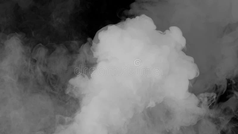 Abstrakte Rauchdampfverschiebung auf einem schwarzen Hintergrund Das Konzept der Aromatherapie lizenzfreies stockbild