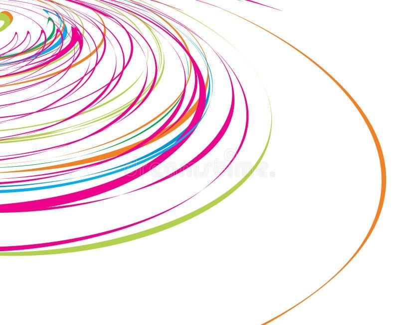 Abstrakte Regenbogenwellenzeile lizenzfreie abbildung