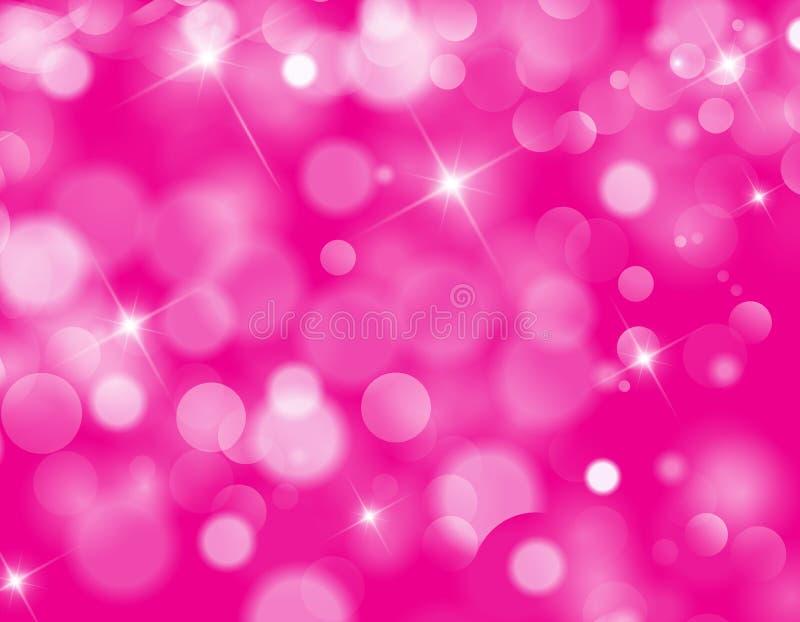 Abstrakte rosa bokeh Hintergrundbeschaffenheit stock abbildung