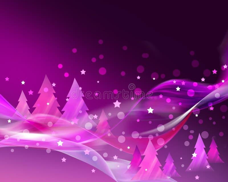 Abstrakte rosafarbene Weihnachtskarte lizenzfreie abbildung