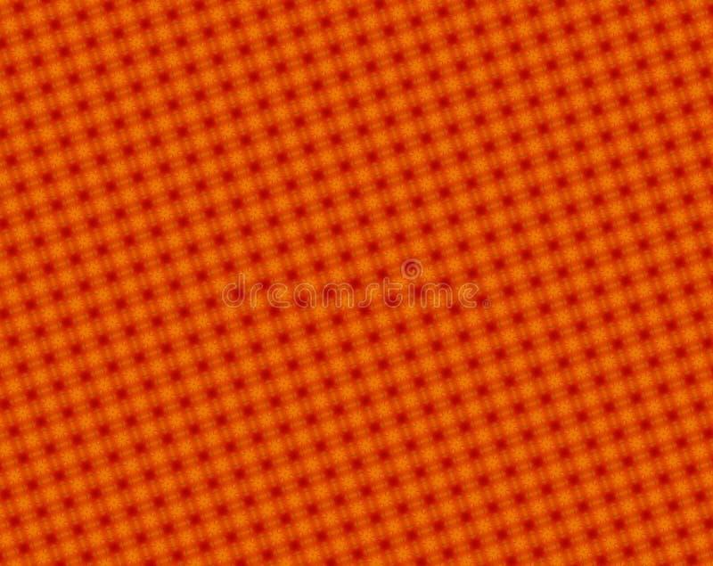 Abstrakte Rote und der Orange 4 mit Seiten versehene Sterne und Achteckmuster stock abbildung