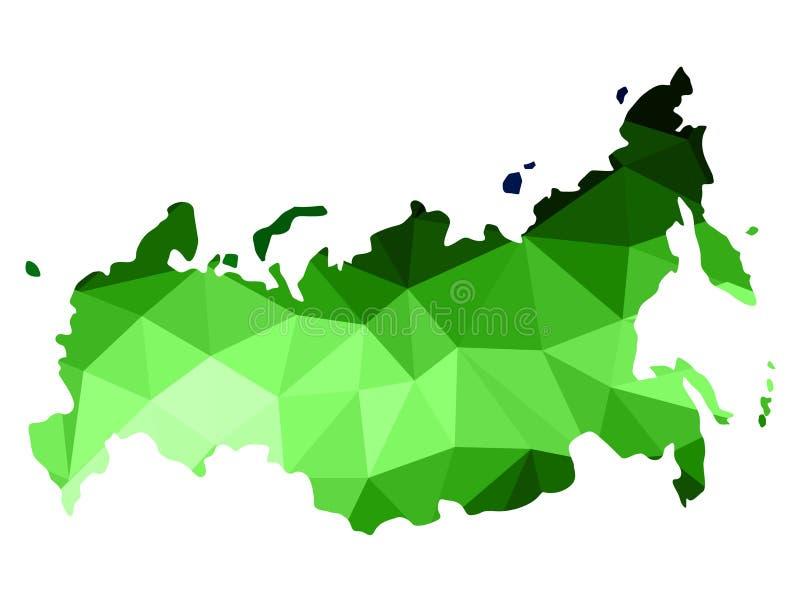 Abstrakte Russland-Karte besteht aus Polygon von verschiedenen Schatten von g vektor abbildung