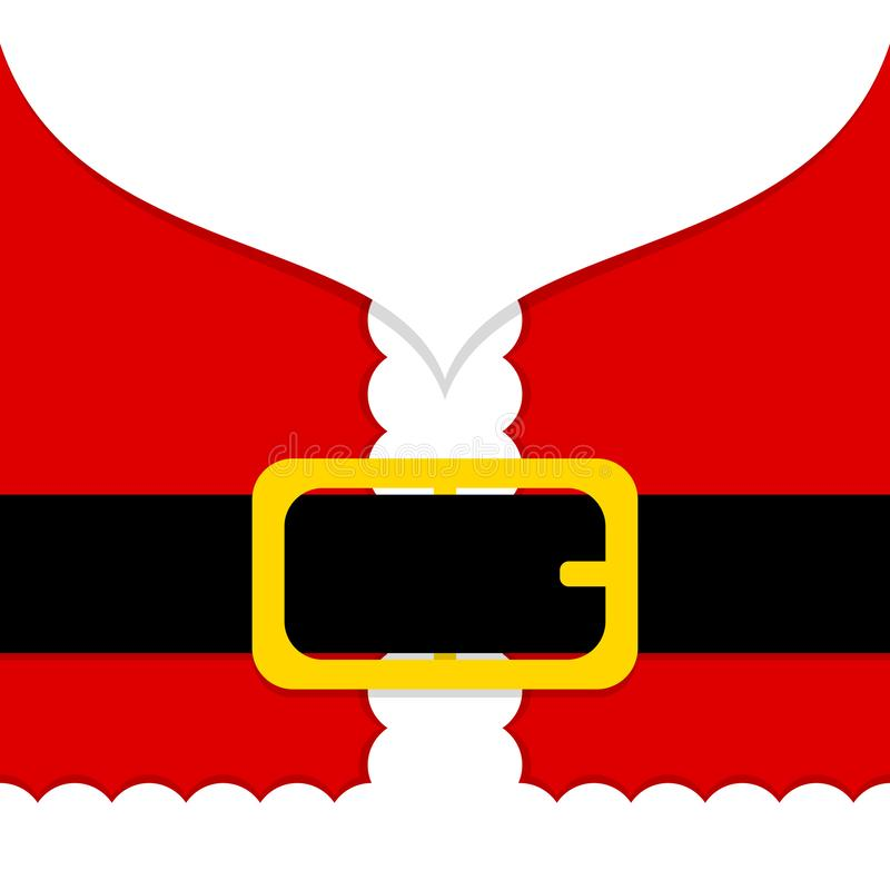 Abstrakte Santa Claus Costume And Belt Red und Weiß lizenzfreie abbildung