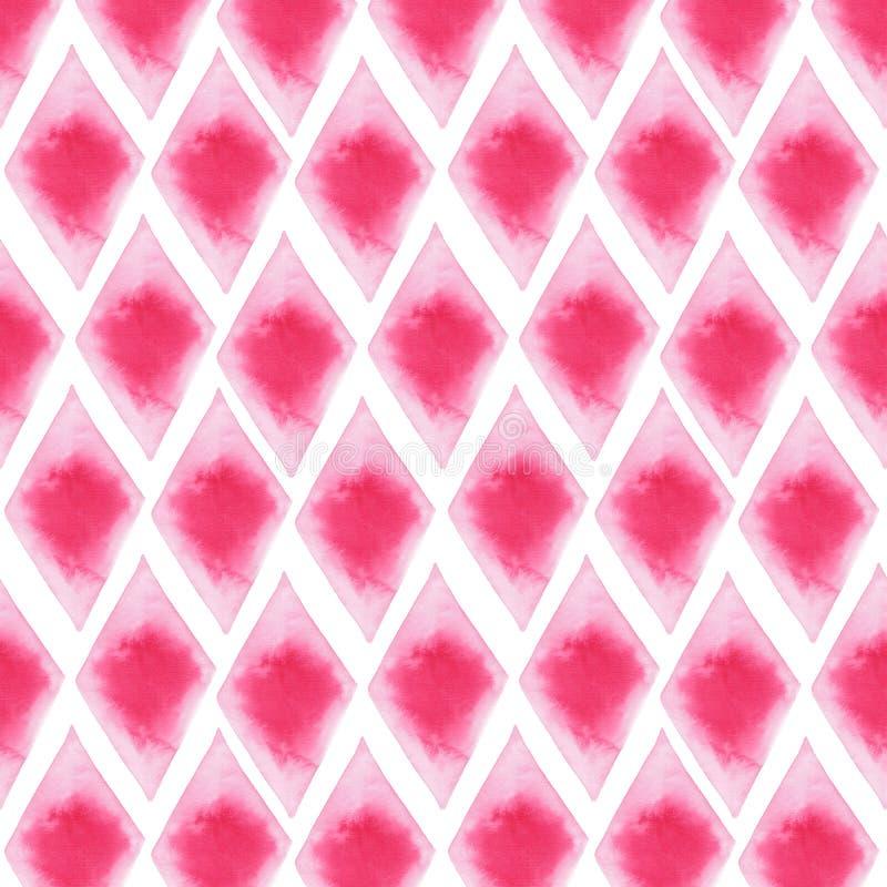 Abstrakte schöne künstlerische zarte wunderbare transparente helle rote rosa verschiedene Formen kopieren Aquarellhandillustratio stockfotos