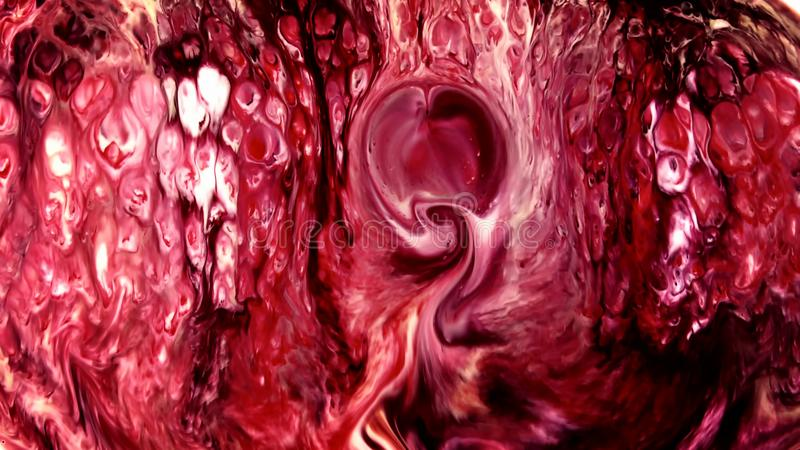 Abstrakte Schönheit der Kunsttintenfarbe explodieren bunte Fantasieverbreitung stockbild