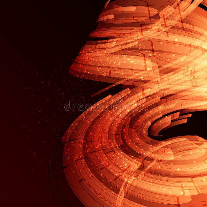Abstrakte Schablone stock abbildung