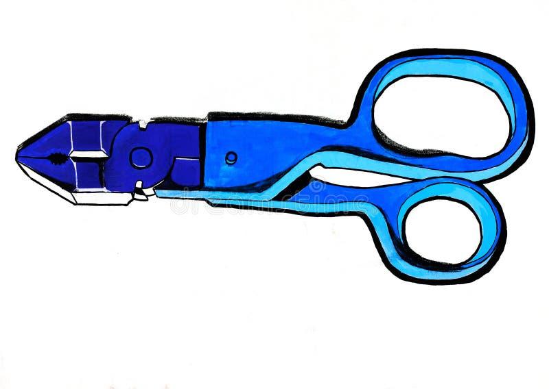 Abstrakte Scheren und Zangen vektor abbildung