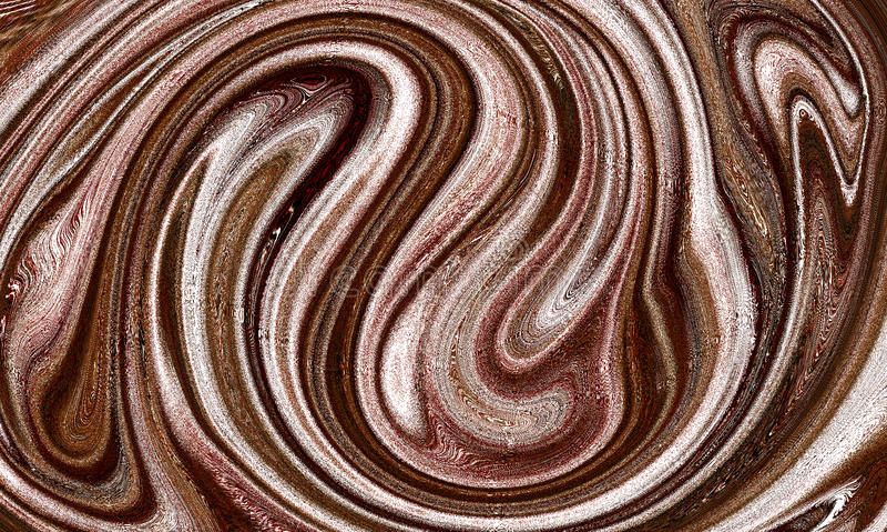 Abstrakte schmutzige Brown-Farbstrudel-Tapete stockfotos