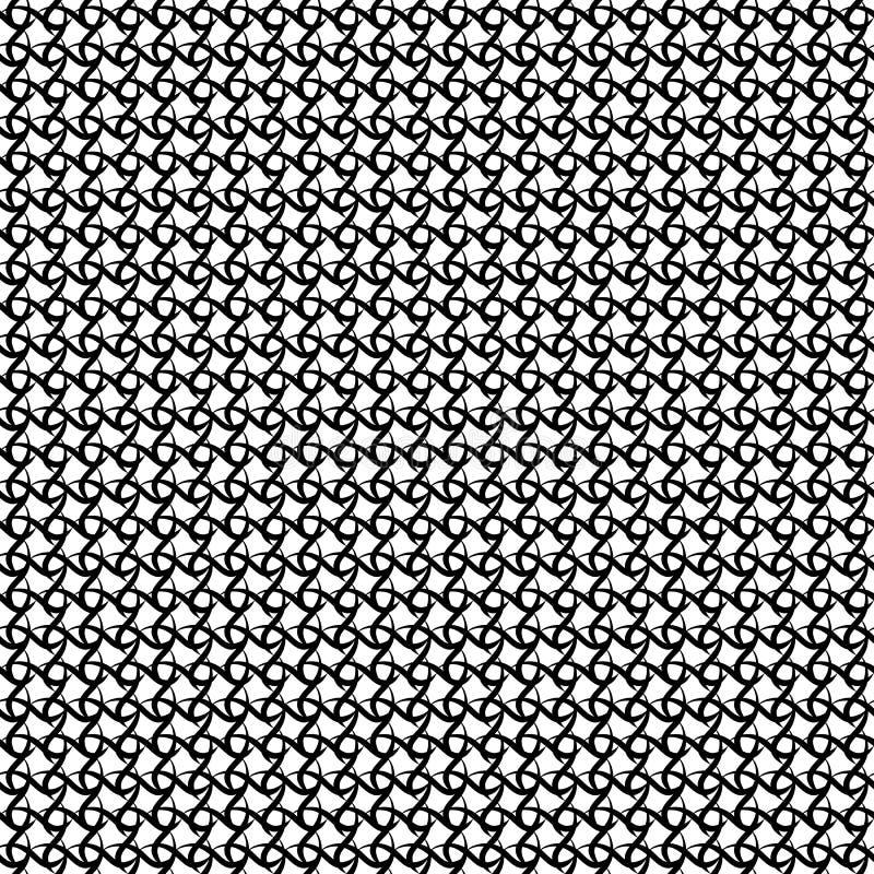 Abstrakte schneidene Wellen Vector nahtloses Muster Einfacher Schwarzweiss-Hintergrund Textilfarbe Sich wiederholender Hintergrun vektor abbildung