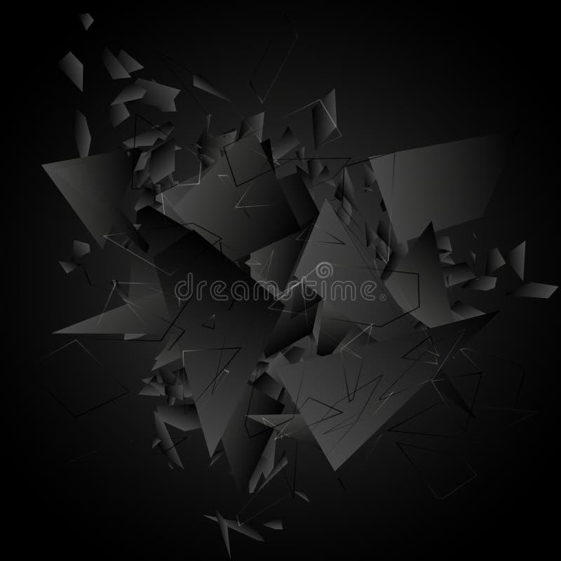 Abstrakte schwarze Explosion Auch im corel abgehobenen Betrag lizenzfreie abbildung