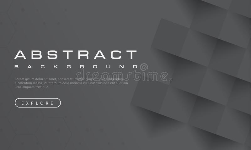 Abstrakte schwarze Hintergrundbeschaffenheit, schwarzes gemasert, Fahnenhintergründe, Vektorillustration lizenzfreie abbildung