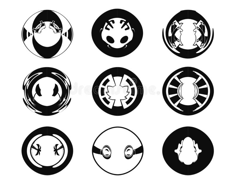 Abstrakte schwarze Ikonen lizenzfreies stockbild