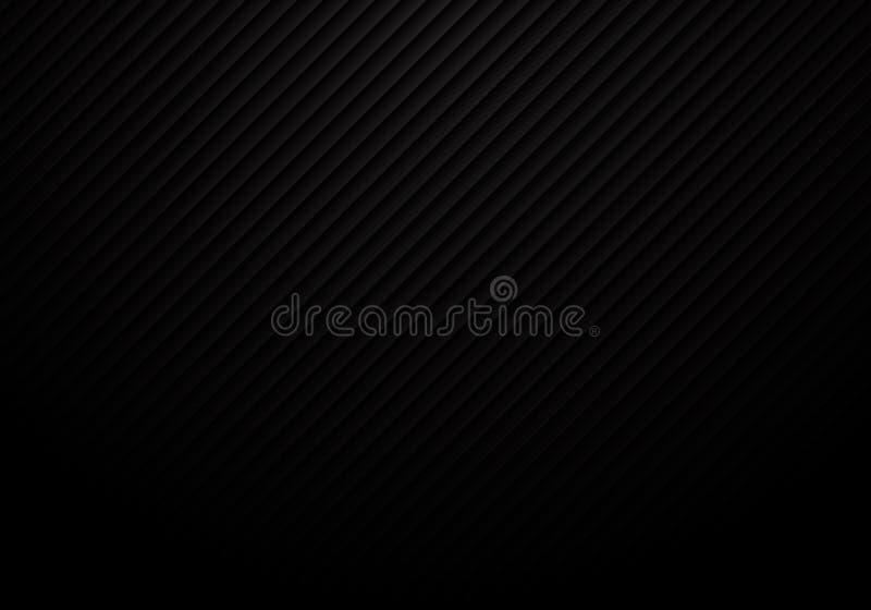 Abstrakte schwarze Linien Muster wiederholen gestreifte Hintergrund- und Beschaffenheitsluxusart stock abbildung