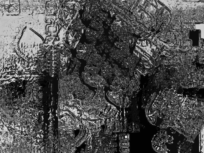 Abstrakte schwarze und silberne grunge Beschaffenheit lizenzfreie abbildung