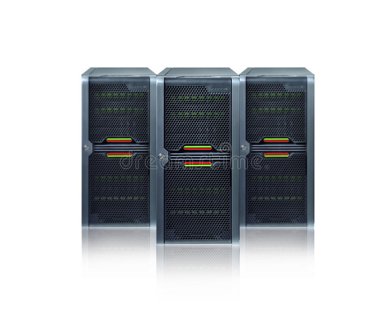 Abstrakte Servers stockfoto