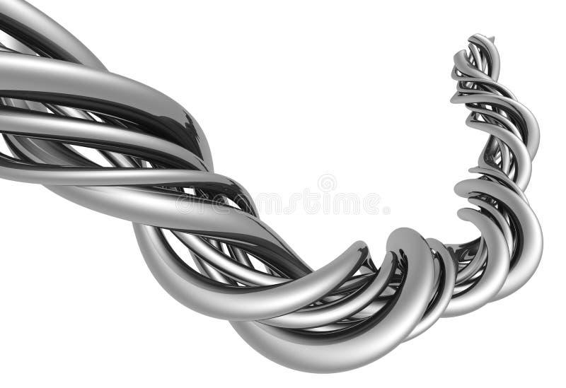 Abstrakte silberne Aluminiumzeichenkette vektor abbildung