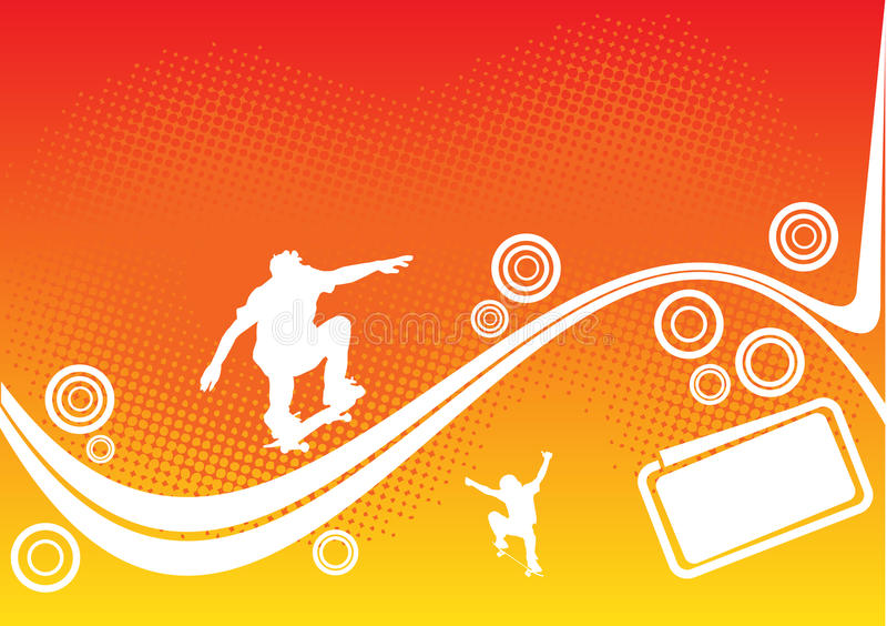 Abstrakte Skateboardauslegung stock abbildung