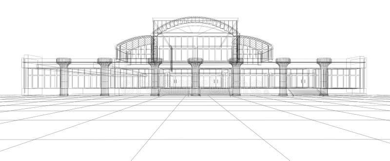 Abstrakte Skizze des Bürohauses vektor abbildung