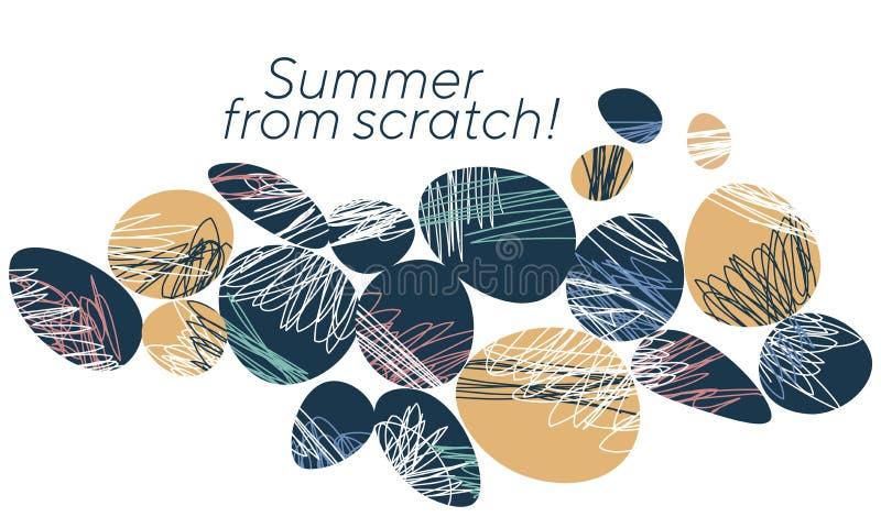 Abstrakte Sommerferien-Fahnenschablone stock abbildung