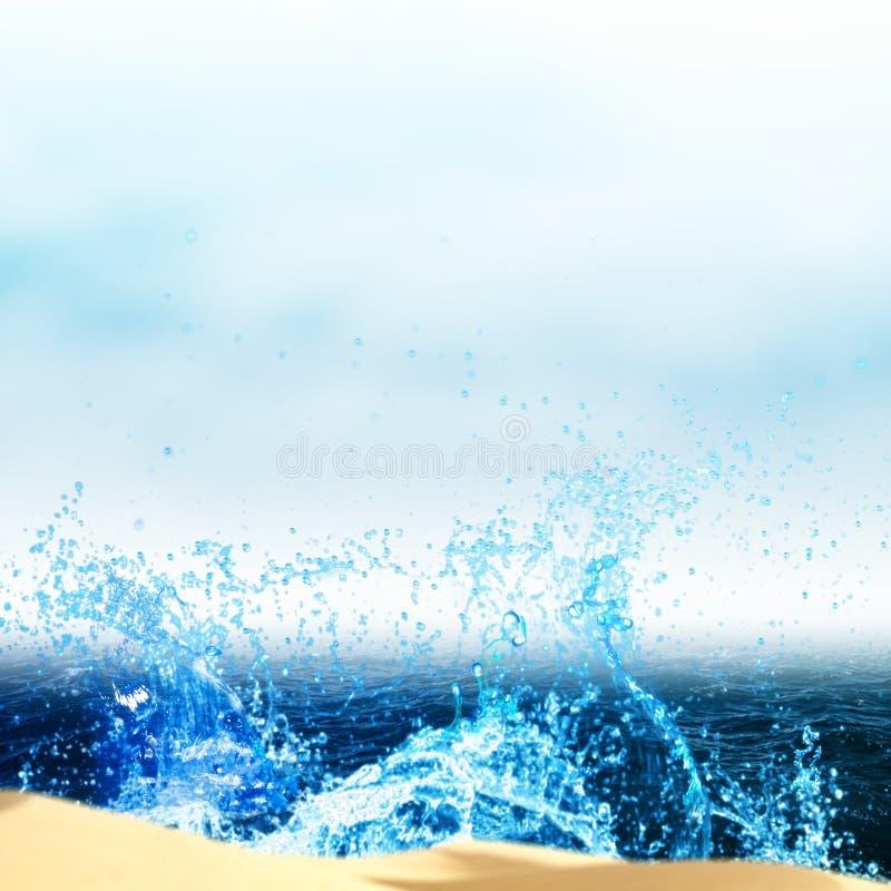 Abstrakte Sommerferienhintergründe lizenzfreie stockfotos