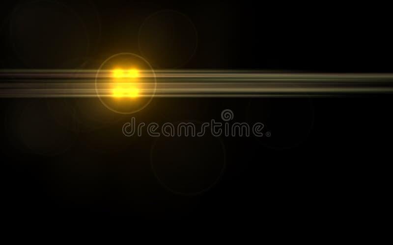 Abstrakte Sonne gesprengt mit digitalem Blendenfleck backgroundnd vektor abbildung