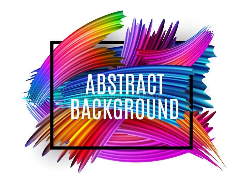 Abstrakte Spektrumbürstenanschläge maserten Art Frame Background Auch im corel abgehobenen Betrag stock abbildung