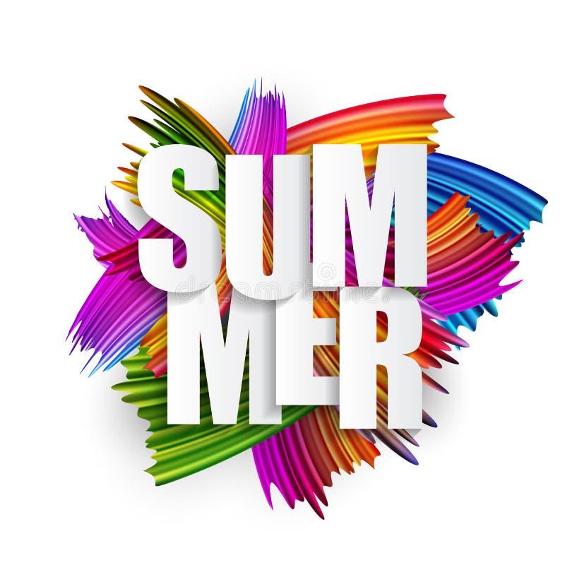 Abstrakte Spektrumbürstenanschläge maserten Art Summer Background Auch im corel abgehobenen Betrag vektor abbildung