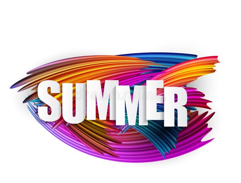 Abstrakte Spektrumbürstenanschläge maserten Art Summer Background Auch im corel abgehobenen Betrag lizenzfreie abbildung