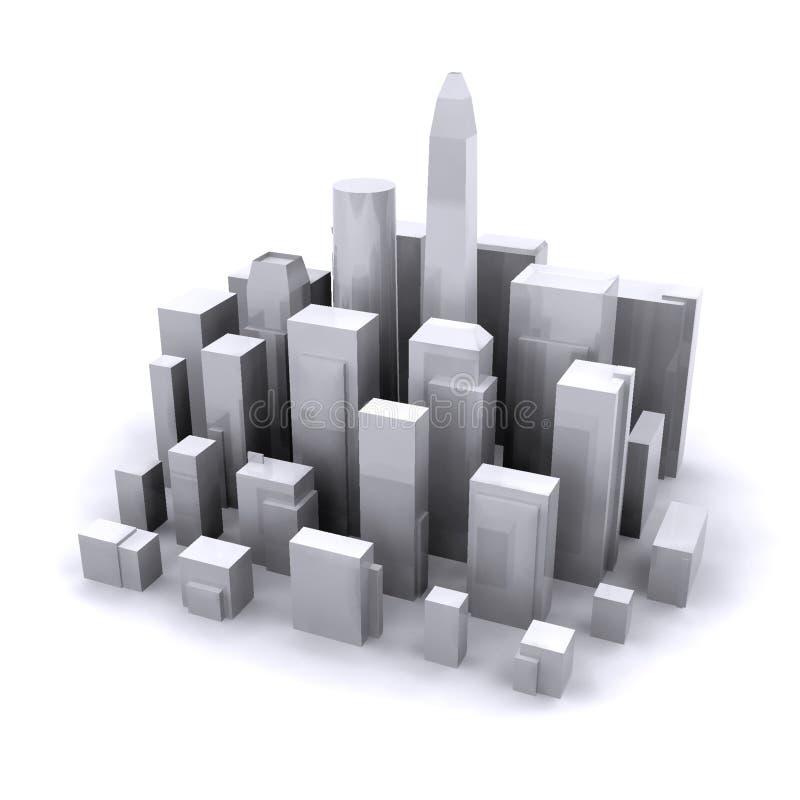 Abstrakte Stadt. lizenzfreie abbildung