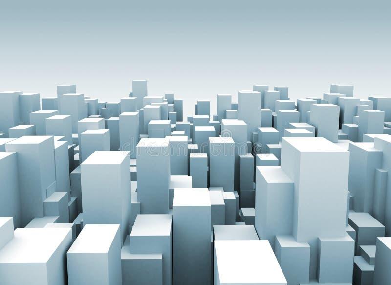Abstrakte Stadt stock abbildung