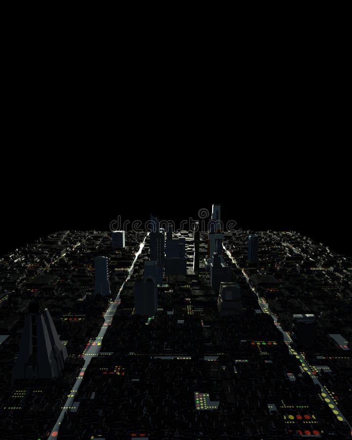 Abstrakte Stadt-Fliese stockbild