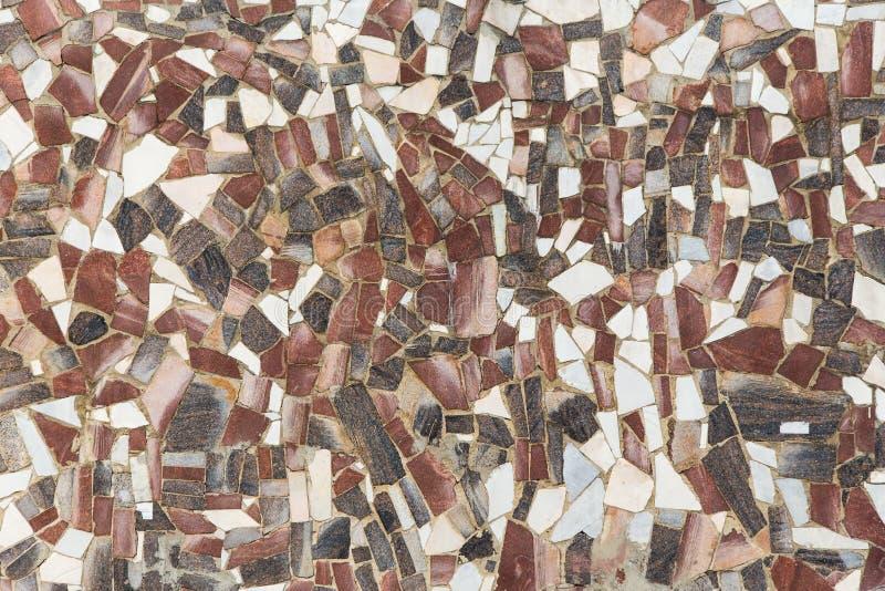Abstrakte Steinmosaikmarmorierungbeschaffenheit als Hintergrund lizenzfreies stockbild