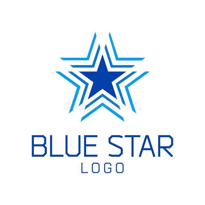 Abstrakte Sternvektor-Logoschablone stockbild