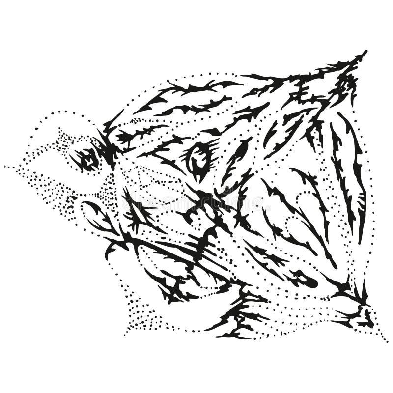 Abstrakte stilisiert b w quallen vektor abbildung for Dekoration quallen