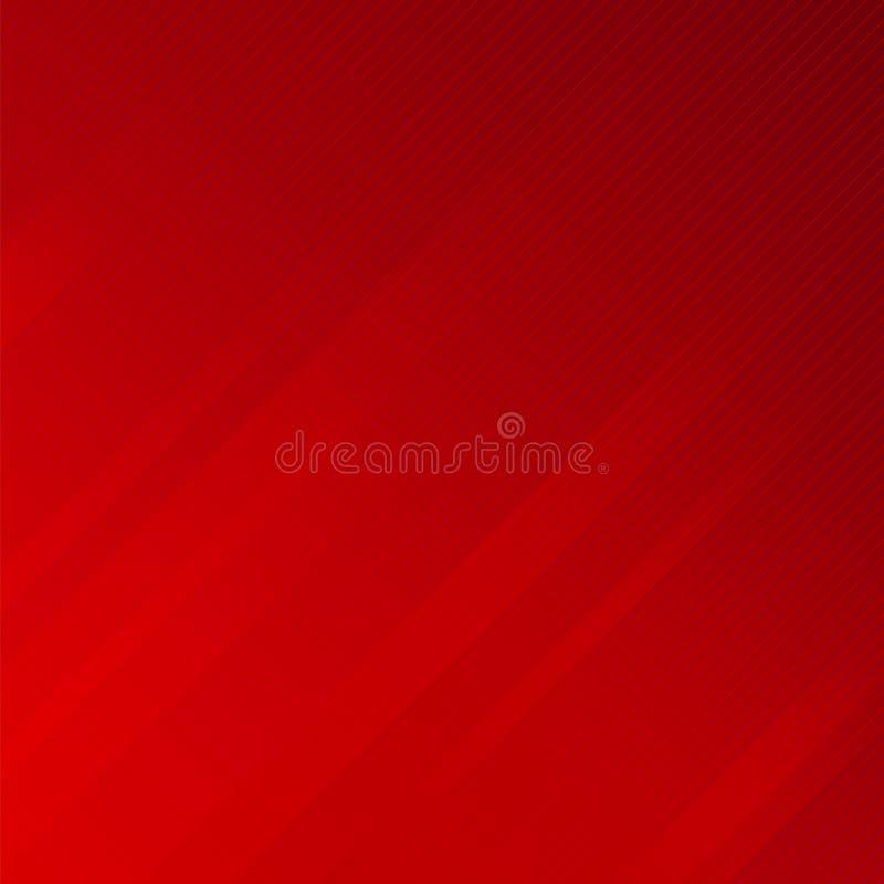 Abstrakte Streifenseitenlinien masern roten Hintergrund lizenzfreie abbildung