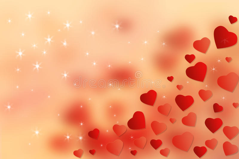 Abstrakte Tapeten-roter Herz-Hintergrund Glückliches Valentine's-Tageskonzept lizenzfreies stockbild