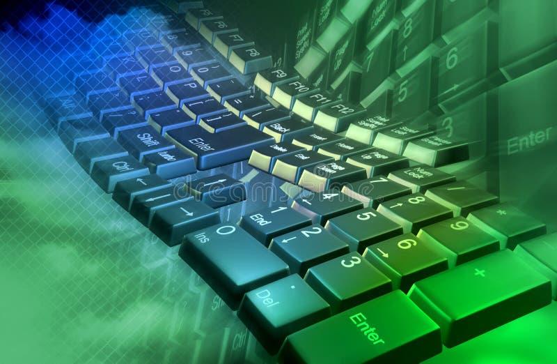 Abstrakte Tastatur lizenzfreie abbildung