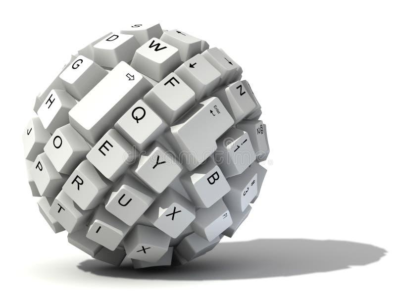 Abstrakte Tastaturkugel lizenzfreie abbildung