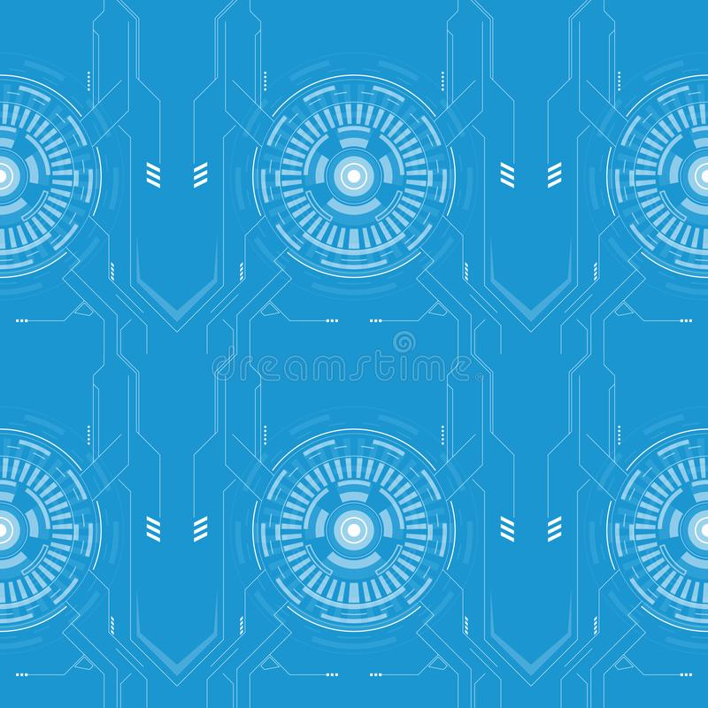 Abstrakte techno Linie High-Teche Art des Musters vektor abbildung
