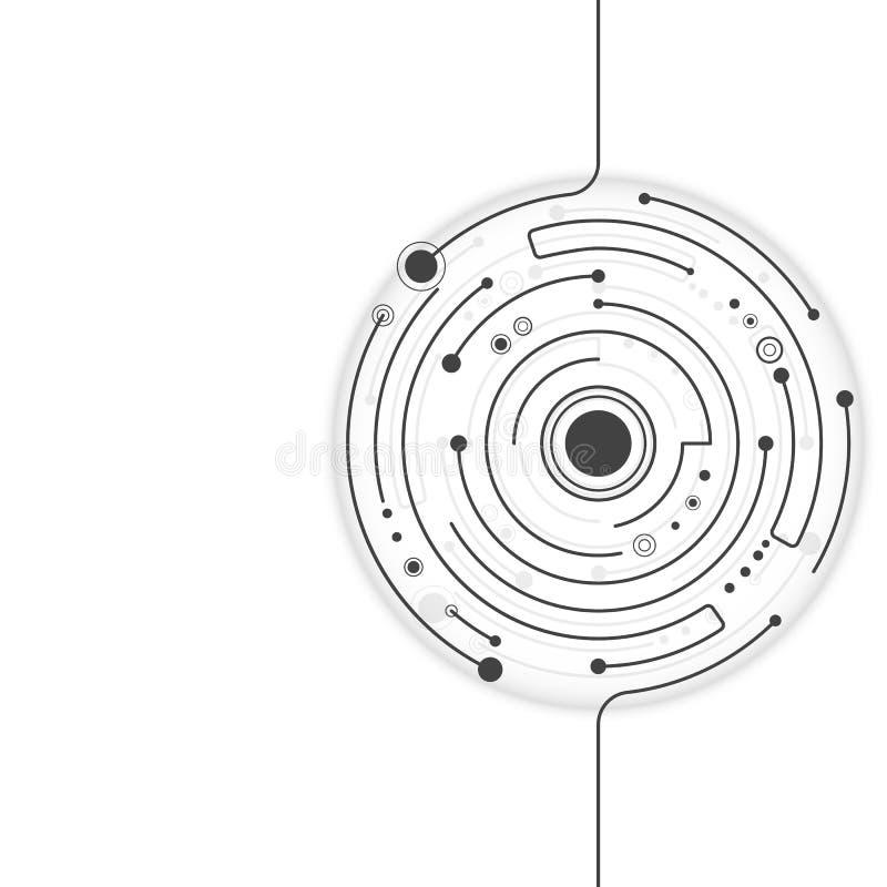 Abstrakte Technologie des Hintergrundes vectors Kreise lizenzfreie abbildung