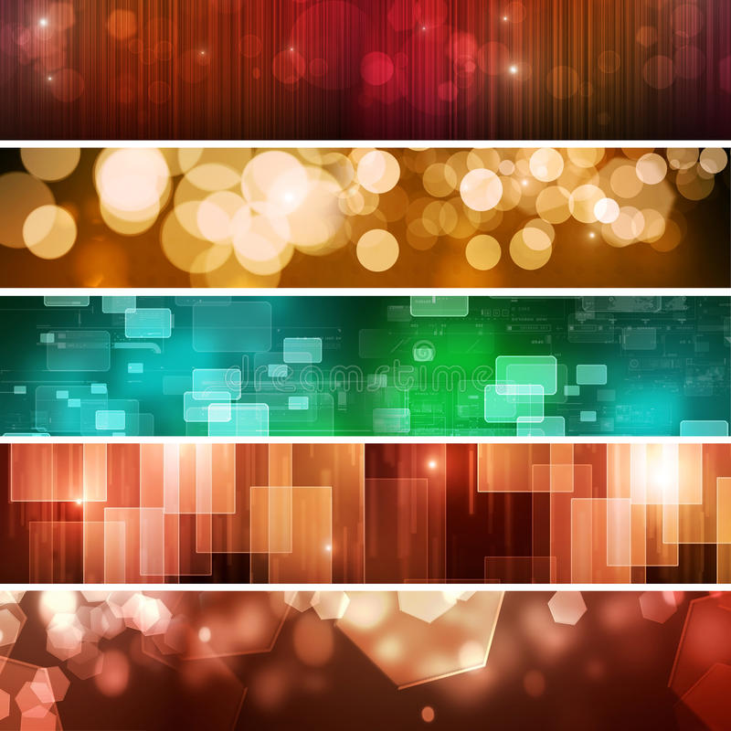 Abstrakte Technologie-Fahnen lizenzfreie abbildung