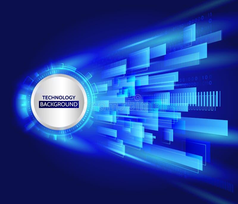 Abstrakte Technologiezeile Hintergrund Futuristische Übertragungsinf lizenzfreie abbildung