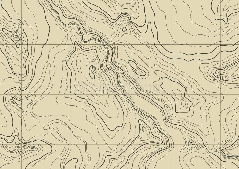 Abstrakte topographische Karte lizenzfreie abbildung