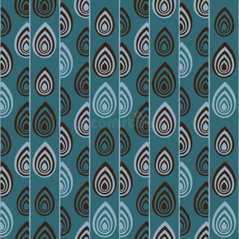Abstrakte traditionelle afrikanische Verzierung Nahtloses vektormuster lizenzfreie abbildung
