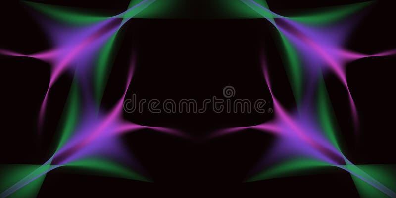 Abstrakte Tri Farbe lizenzfreie abbildung