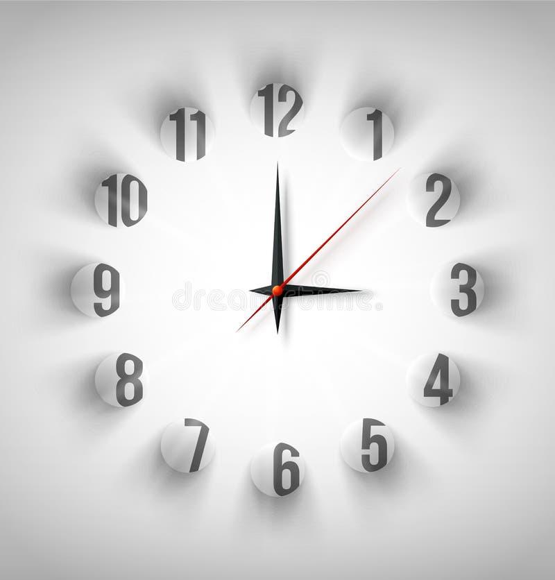 Abstrakte Uhr mit weißen Kreisen vektor abbildung
