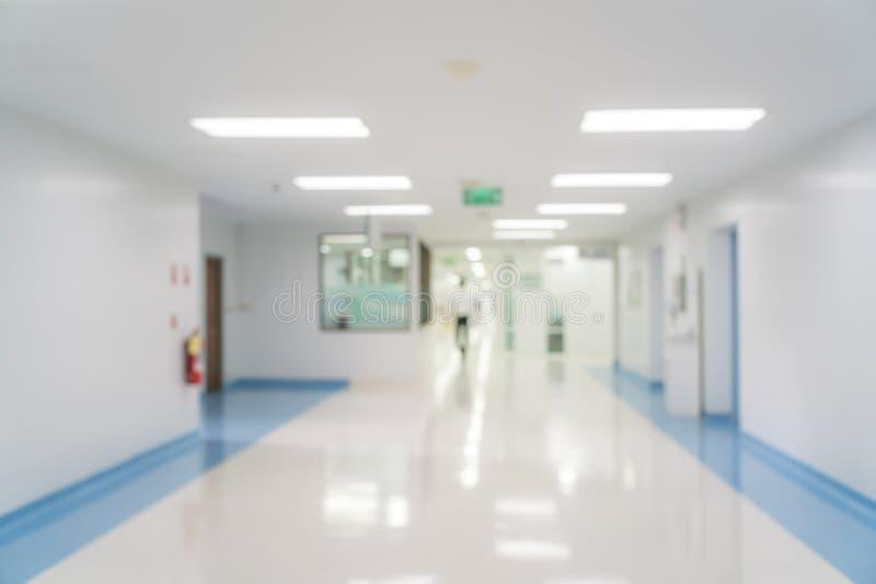 Abstrakte Unschärfe des schönen Krankenhaus- und Klinikinnenraums für Rückseite stockbild